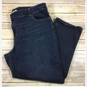 Chicos Ultimate Fit Cropped Ankle Denim Jeans Sz 4
